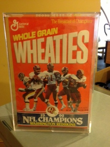 Of course I saved the Wheaties boxes!