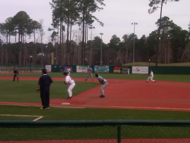 That's Christian playing second base and Ryan Ripken running on second base