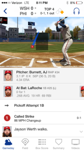 Strike 1 called on Span on a terrible pitch in the 4th inning.